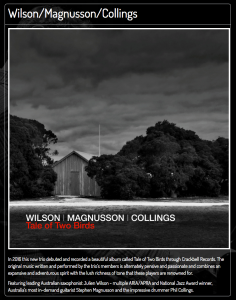 Wilson/Magnusson/Collings Tale of Two Birds @ JazzLab | Brunswick | Victoria | Australia